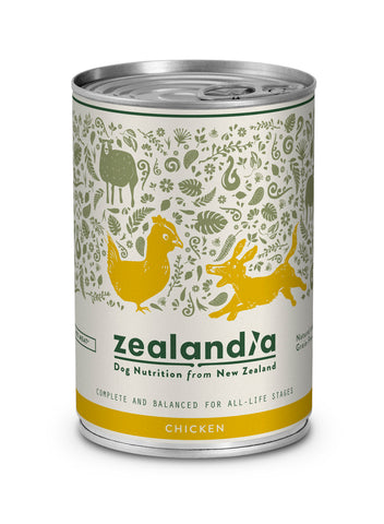 Zealandia Dog Free Range NZ Chicken 370g Tin.