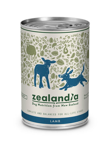 Zealandia Dog Free Range NZ Lamb 370g Tin