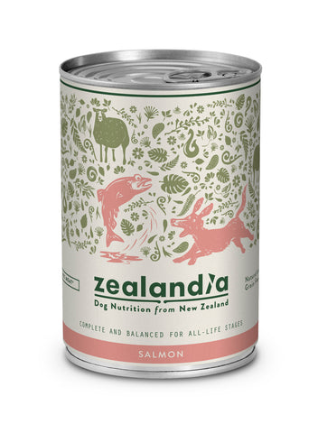 Zealandia Dog NZ Salmon 370g Tin