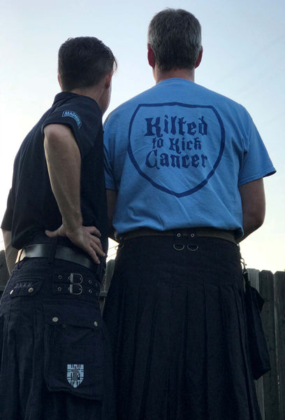 The business end of Kilted to Kick Cancer