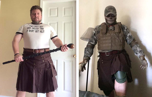 The many personas of a larger-than-life kilt wearer