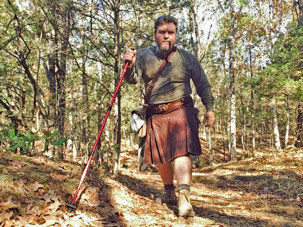 Outdoorsman-hiking-in-sport-utility-kilt_Damn-Near-Kilt-Em