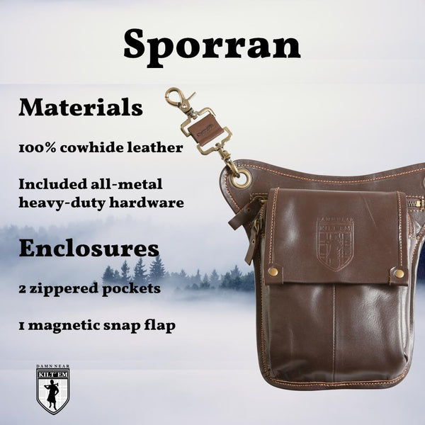 Brown Raw Hide Leather Sporran