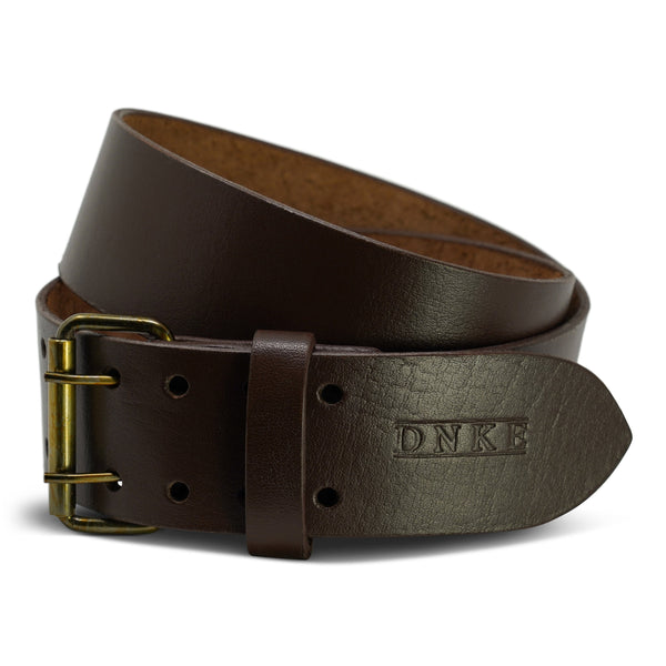 Brown Leather Classic 2.5'' Double Prong Kilt Belt