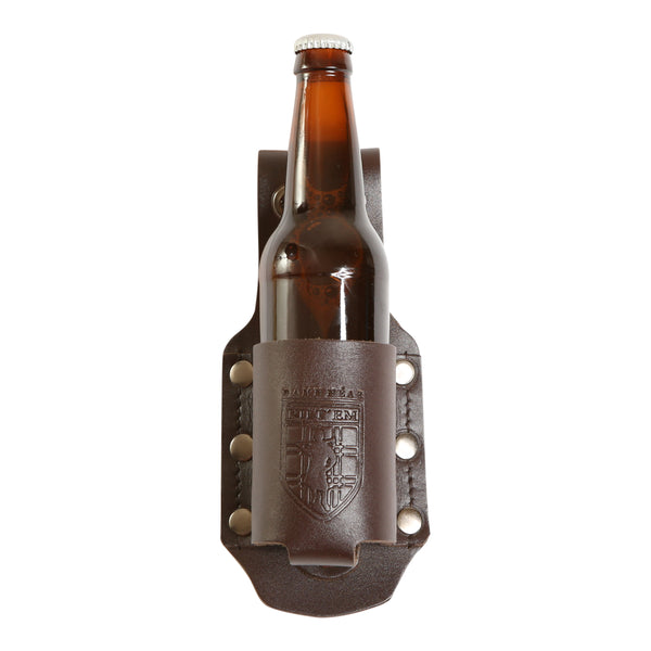 Brown Leather 12 oz Standard Bottle Holder