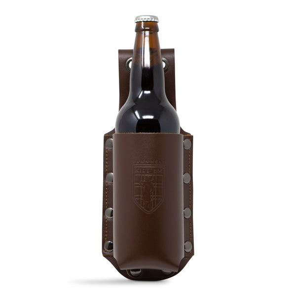 Brown Leather 22 oz Bomber XL Bottle Holder