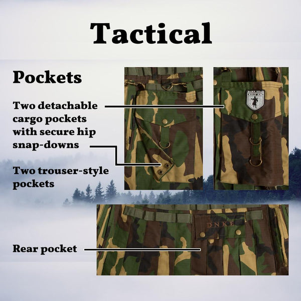Tactical Kilt - Woodland Camo