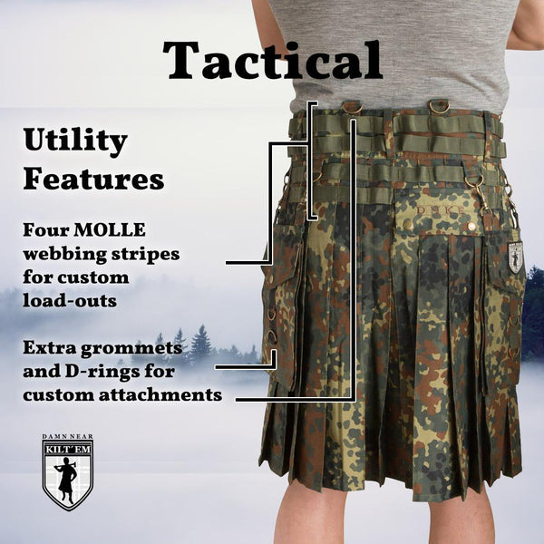 Tactical Kilt - Flecktarn Camo