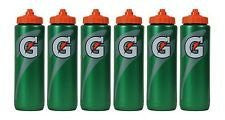 Set of 6 Gatorade Leakproof Green Orange Sport Squeeze Water Bottle 20 Oz