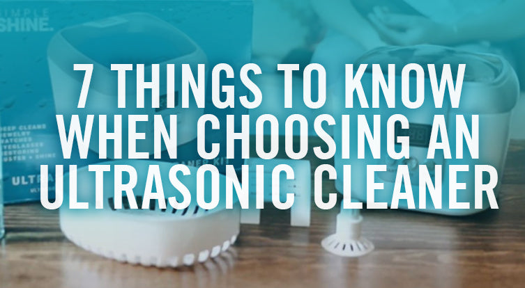 How to use and ultrasonic cleaner
