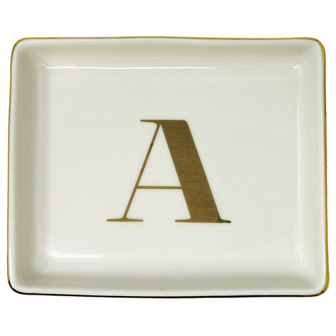 Personalized Jewelry Dish with Initial