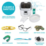 Jewelry - Ultrasonic Jewelry Cleaner Kit - Machine And Solution works on jewelry coins glasses