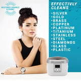 Jewelry - Ultrasonic Jewelry Cleaner Kit - Machine And Solution different metal options
