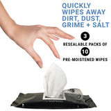Shoe - 30 Disposable Portable Shoe Wipes Grabbing