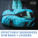 Shoe - Charcoal Shoe Deodorizers in Gym Bag
