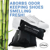 Shoe - Charcoal Shoe Deodorizers Laid next to Shoes