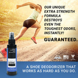 Shoe - Premium Shoe Deodorizer Foot Spray - 4oz Man Running