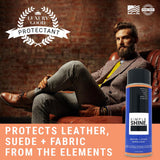 Shoe - Water Repellent Spray And Stain Protector Man in Chair