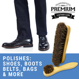 Premium Horsehair Shoe Shine Brushes