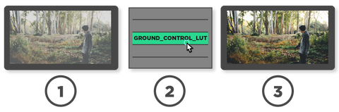 Just select the Ground Control Color Grading LUT from your LUT utility of choice and enjoy beautiful color grades.
