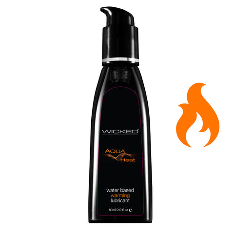 WICKED AQUA HEAT WATER BASED WARMING LUBRICANT 2 Oz / 60ml
