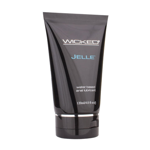 WICKED JELLE WATER BASED ANAL LUBRICANT 4 Oz / 120ml