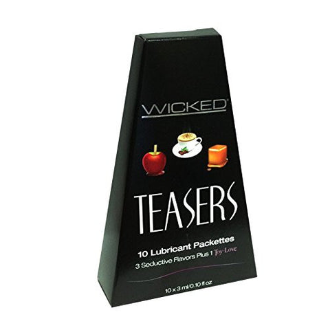 WICKED TEASERS WATER BASED LUBRICANT STARTER KIT 4 FAVORS