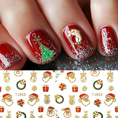 BLE 3D Christmas Nails Stickers
