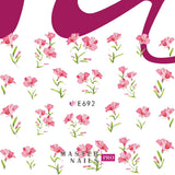 3D Nail Stickers (Flowers E688-E697)