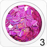 AGF- 213 Stripe Effects Glitter Hexagon