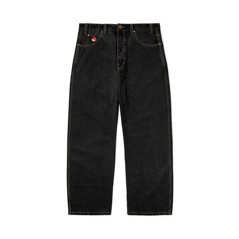 BUTTER GOODS SANTOSUOSSO DENIM PANTS WASHED BLACK
