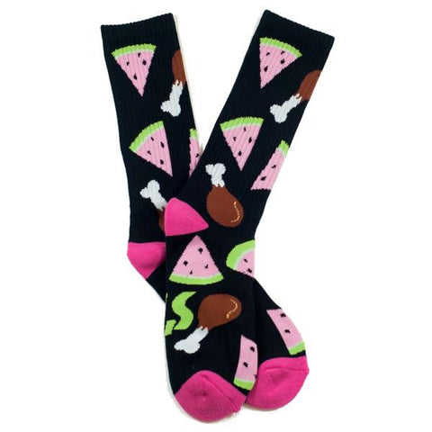 SOCK POSSE CHICKEN & WATERMELON SOCKS