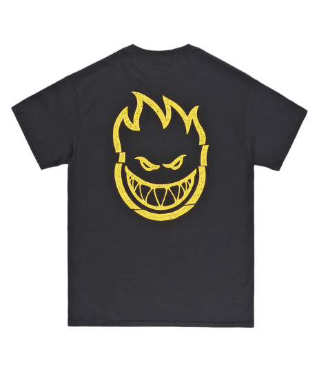 SPITFIRE CLEAN CUT POCKET TEE BLACK/YELLOW