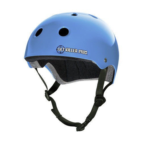 187 KILLER PADS PRO SKATE HELMET LIGHT BLUE