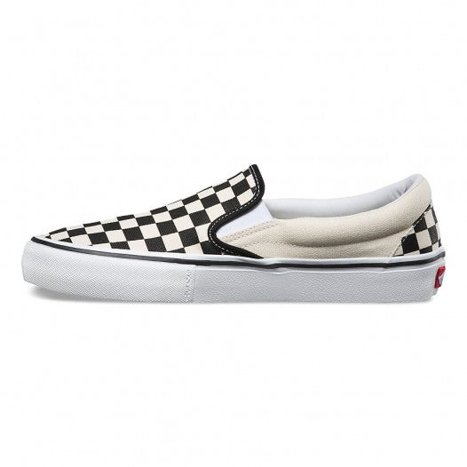 VANS CHECKERBOARD SLIP ON PRO BLACK/WHITE