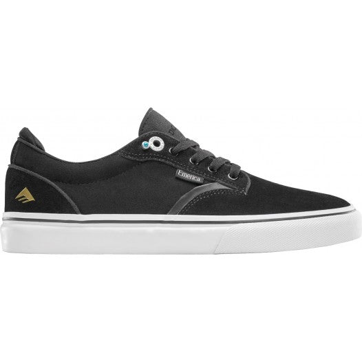 EMERICA DICKSON MENS SHOES BLACK/WHITE/GOLD