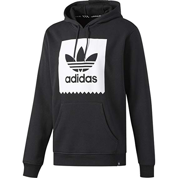 ADIDAS SKATEBOARDING SOLID BB HOODIE BLACK/WHITE