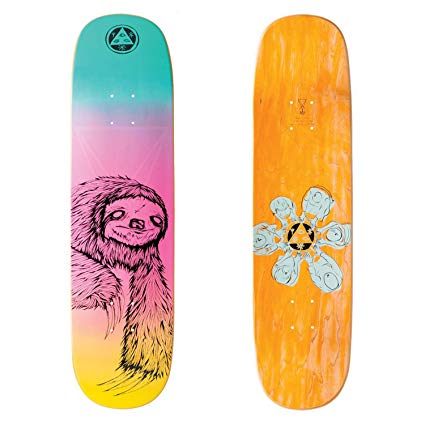 WELCOME SLOTH ON AMULET RAINBOW DECK 8.125""
