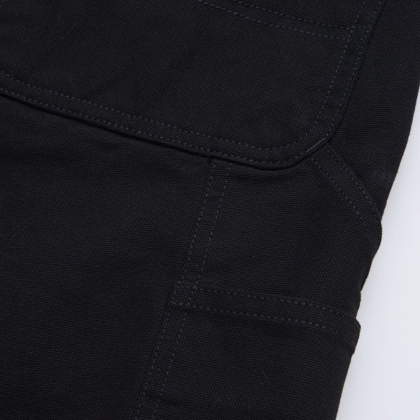 CARHARTT SINGLE KNEE SHORT BLACK RINSED