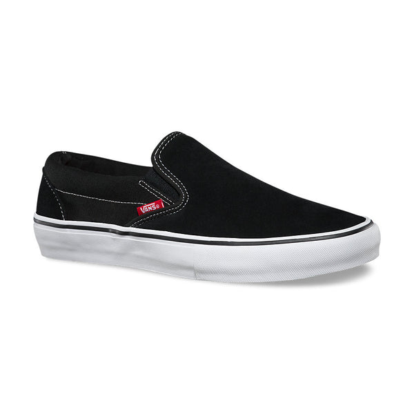 VANS SLIP ON PRO BLACK/WHITE SUEDE