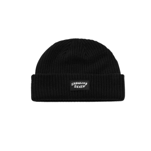 CRAWLING DEATH PATCH KNIT BEANIE BLACK