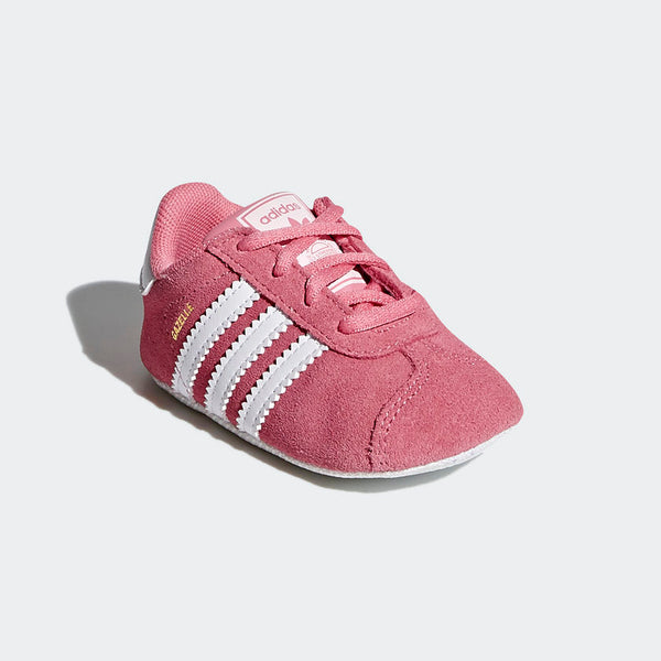 ADIDAS TODDLER GAZELLE CRIB SHOES PINK