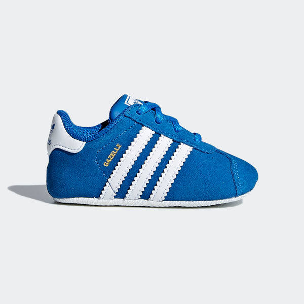 ADIDAS TODDLER GAZELLE CRIB SHOES BLUE