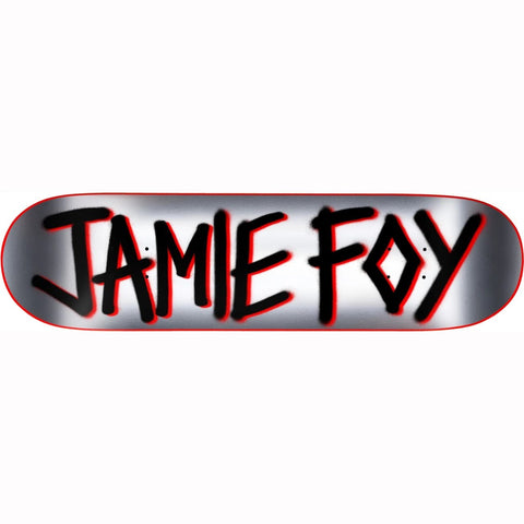 DEATHWISH JAMIE FOY PRO GANG NAME DECK SILVER 8""