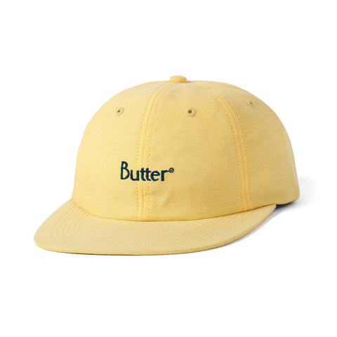 BUTTER GOODS CLASSIC LOGO 6 PANEL SNAPBACK SUNFLOWER