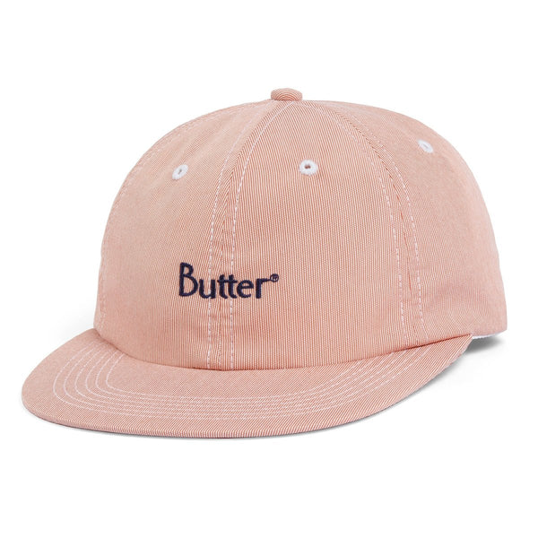 BUTTER GOODS PIN CORD PEACH 6 PANEL HAT