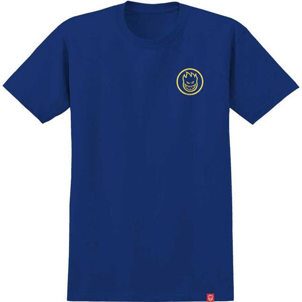 SPITFIRE YOUTH CLASSIC SWIRL TEE ROYAL BLUE/YELLOW