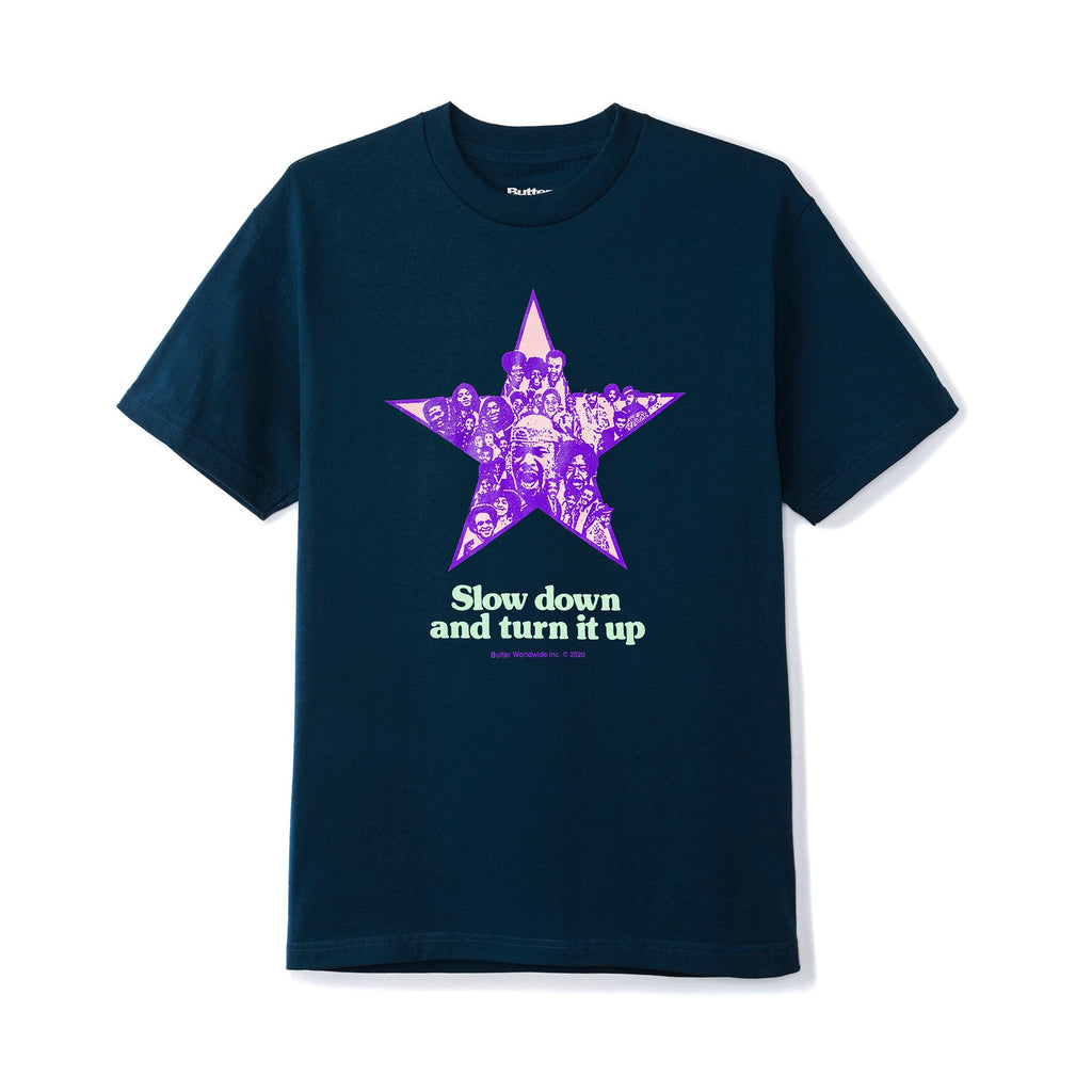 BUTTERGOODS TURN IT UP TEE NAVY