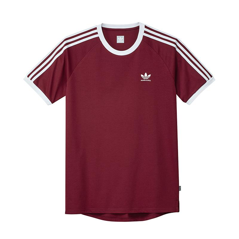 ADIDAS CALIFORNIA 2.0 RINGER TEE BURGUNDY/WHITE