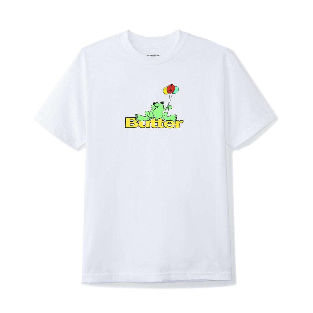 BUTTERGOODS FROG TEE WHITE